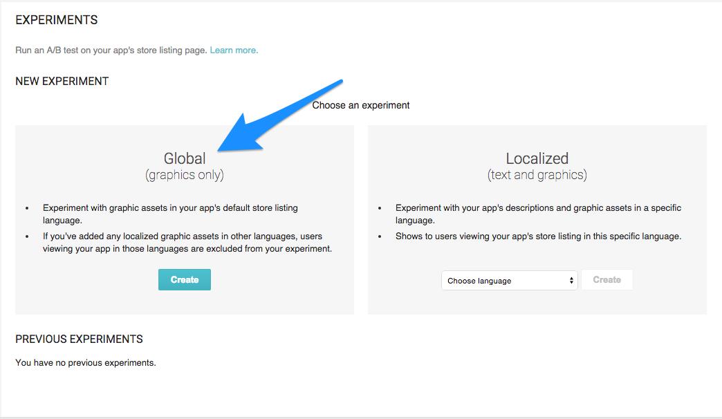 Google Experiments App AB Testing 1